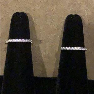 Sterling silver CZ Stack Pave Rings